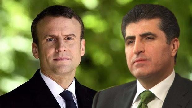 Macron  ji Nêçîrvan Barzanî re nameya piştgiriyê şand