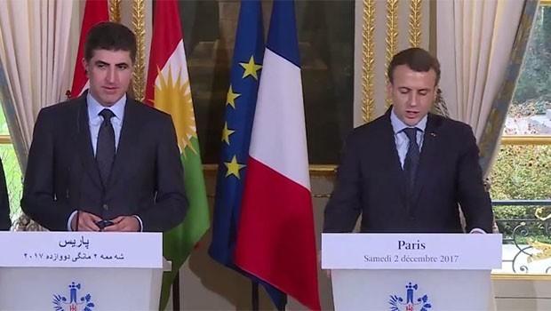Macron:  Fransa herdem dostekî nêzîk ê gelê Kurd e