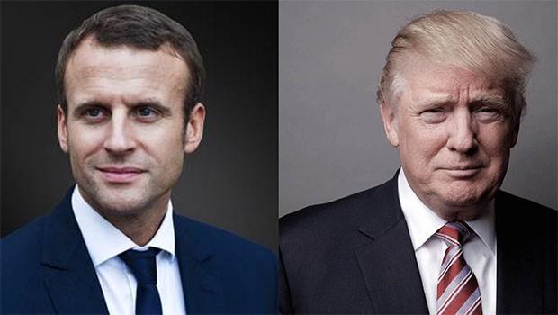 Di derbarê Kurdistanê de Macron, Trump geriya