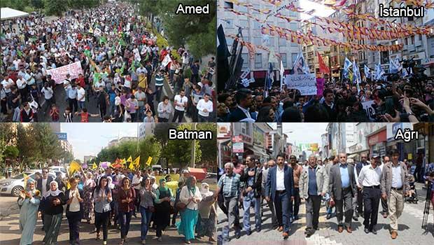 Kuzey Kürdistan kentleri ve İstanbul'da Kobanê protestosu