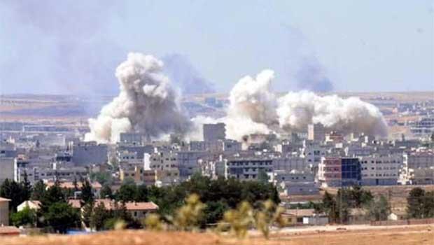 Kobanê'de IŞİD'lilerin Bulunduğu Bina İmha Edildi
