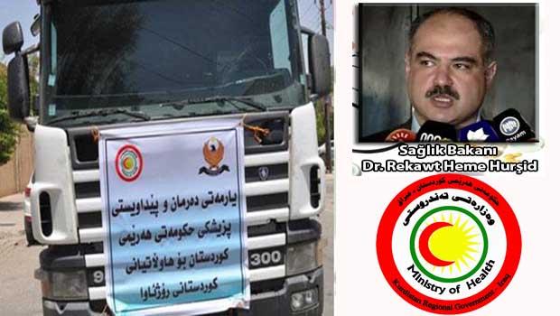 Kürdistan Bölgesinden Kobanê'ye 30 Ton Tibbi Yardım