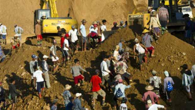 Myanmar'da toprak kayması: En az 80 ölü