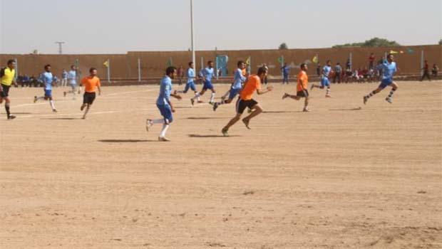 Menbic ve Girê Spî arasında futbol maçı