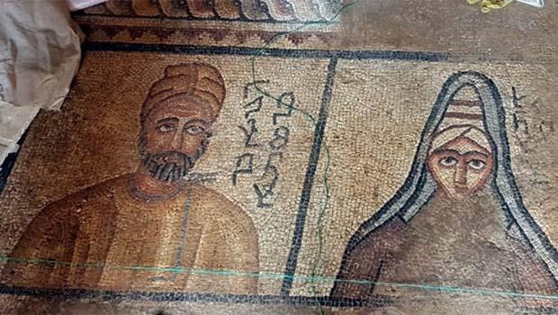 Urfa'da Abgar Krallığı dönemine ait taban mozaiği bulundu