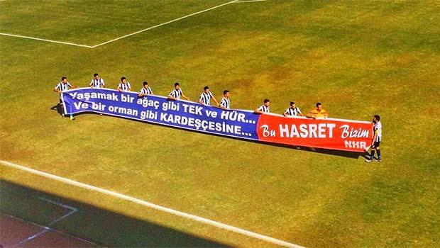 Fethiyespor, Amedspor maçına Nazım Hikmet'in dizeleriyle çıktı
