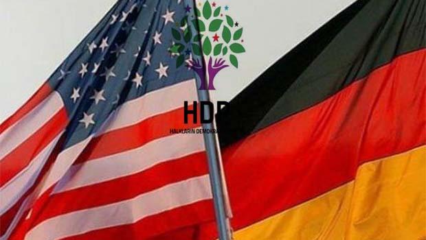 ABD ve Almanya'dan HDP açıklaması