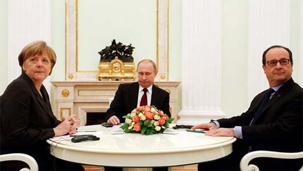 Üç liderin Suriye görüşmesi
