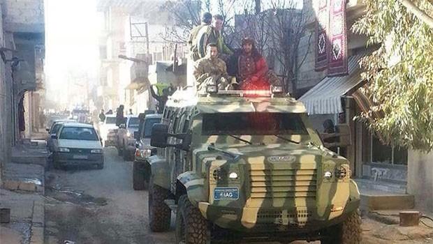 ABD'nin QSD'ye verdiği zırhlı araçlar Türkiye'de üretilmiş