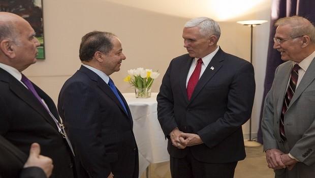 Başkan Barzani, ABD Başkan Yardımcısı ile görüştü