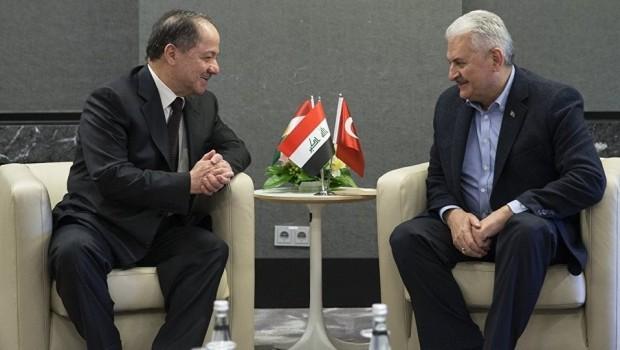 Başkan Barzani, Binali Yıldırım ile görüştü
