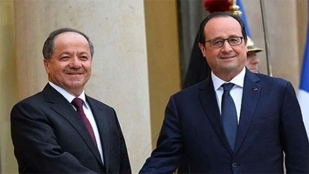 Başkan Barzani, Fransa Cumhurbaşkanı François Hollande ile görüşecek