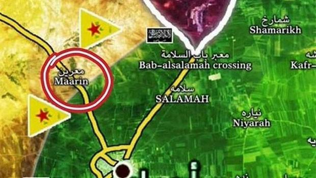 Azez-Efrin sınırında YPG ve cihatçılar arasında çatışma