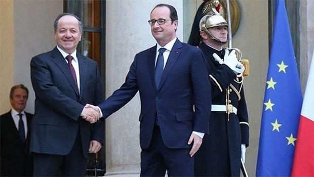 Barzani ve Hollande görüşüyor