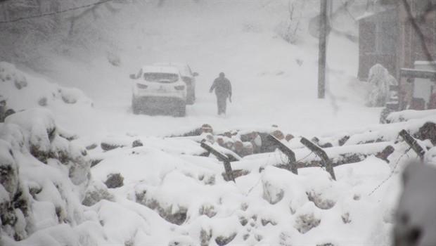 Kar yağışı Kürt illerinde yolları kapattı