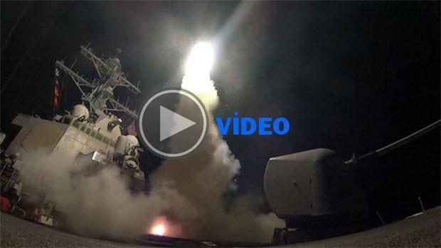 Pentagon, Suriye'ye düzenlenen saldırının görüntülerini yayınladı