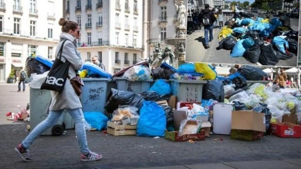 Fransa caddelerinde ürküten görüntü