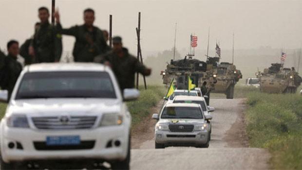 ABD zırhlıları arasında YPG flaması