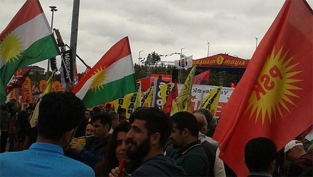 PSK'den 1 Mayıs'ta 'Kürdistan Bayrağı' tepkisi