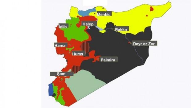 Harita üstünde yeni Suriye planı