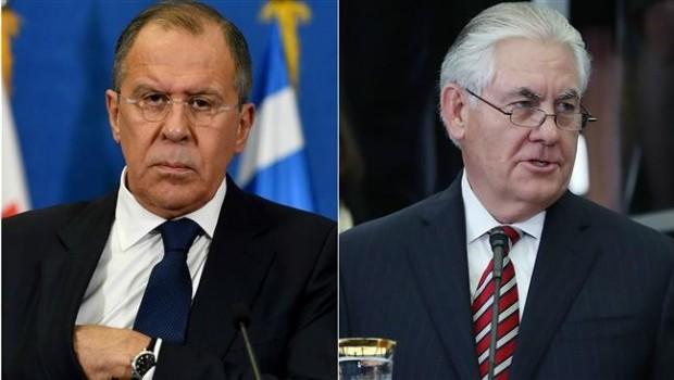 Tillerson ve Lavrov Suriye'yi görüştü