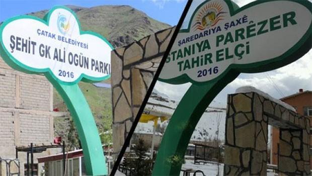 Tahir Elçi parkının ismi değiştirildi!