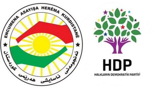 Erbil Asayişi'nden HDP'ye yanıt!