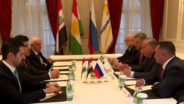 Kürdistan heyeti, Rus Petrol deviyle görüştü