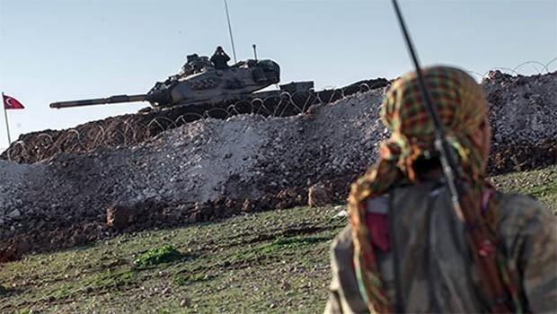 TSK, Efrin kırsalındaki YPG mevzilerini vurdu