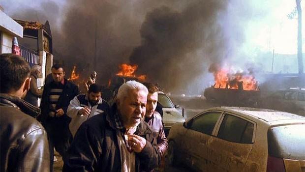 Suriye'de otobüs durağında patlama: 3 ölü