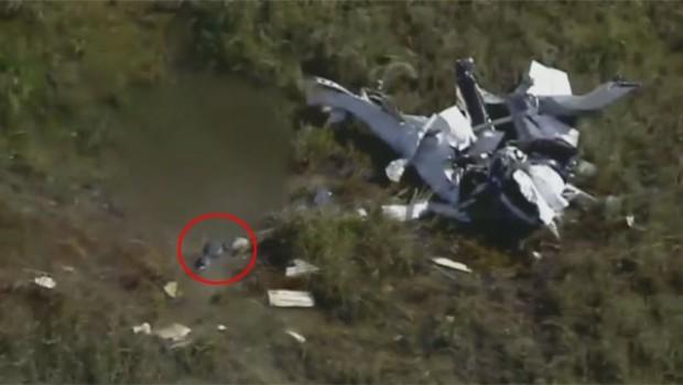 Uçak enkazında korkunç görüntü