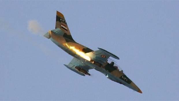 Suriye'de Esad rejimine ait uçak düşürüldü iddiası