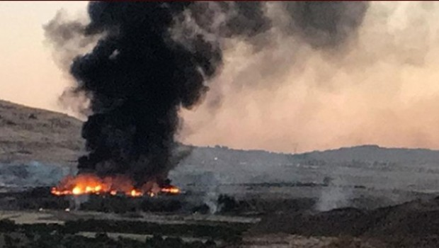 Kilis'te Askeri mühimmat depoları patladı
