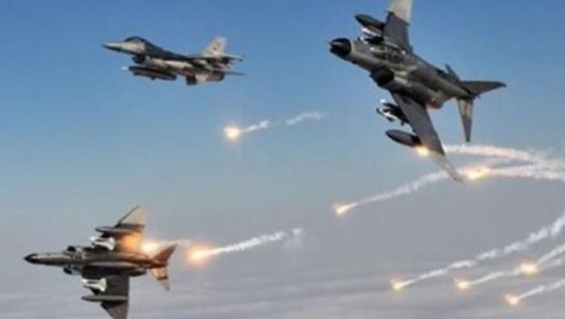 Kerkük'te savaş uçakları IŞİD'i vurdu