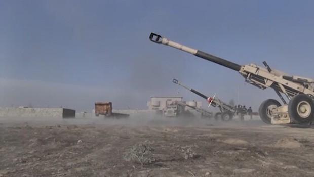 Peşmerge, Hemrîn Dağı'nda IŞİD'i bombalıyor