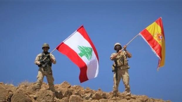 IŞİD'den kurtarılan bölgede 'İspanya Bayrağı'