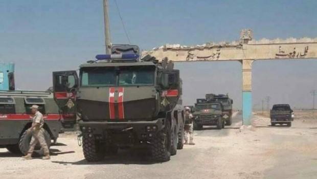 Rus askerleri Efrin ve Şehba bölgesine yerleşti