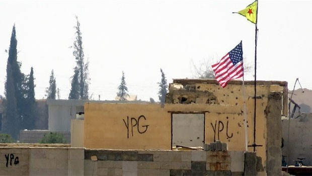 Girê Spî'de iginç gelişme... ABD ve YPG bayrakları kaldırıldı!