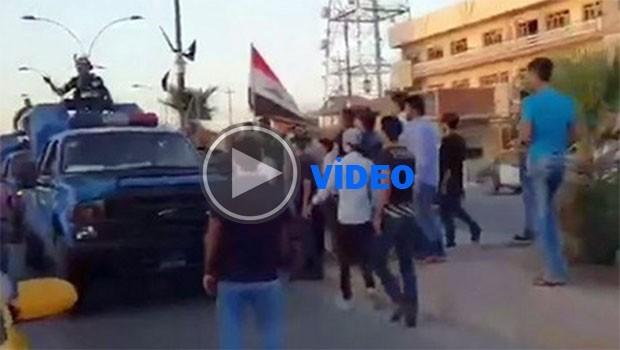 Kerkük'te Irak güçlerine ve bayraklarına tepki