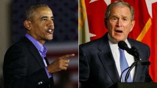 Obama ve Bush'tan isim vermeden Trump'a eleştiriler