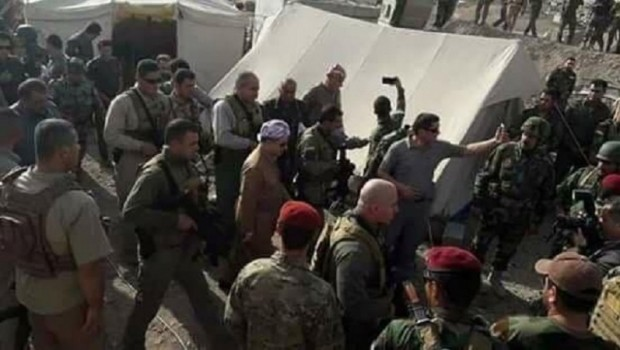 Başkan Mesud Barzani cephede
