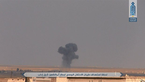 Rusya İdlib'teki stratejik hava üssünü vurdu
