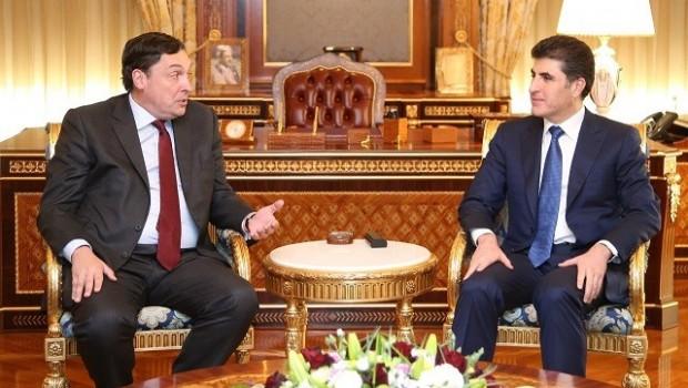 Başbakan Barzani , İngiltere'nin yeni bağdat büyükelçisini kabul etti