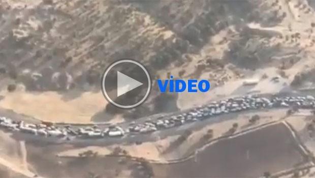 Kirmanşah'a binlerce araçlık yardım konvoyu!