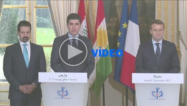 Başbakan Barzani, Fransa Cumhurbaşkanını tercüman krizinden kurtardı