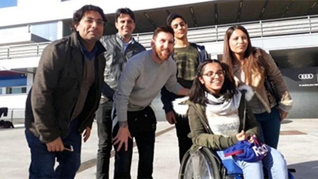 Rojavalı Kürt kızı Messi'nin konuğu