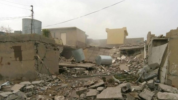 Haşdi Şabi, Xurmatu'da Kürtlere ait evi patlattı
