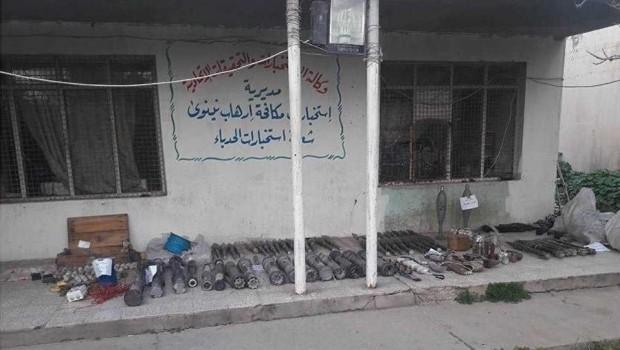 Irak'ta IŞİD'e Ait Silah Deposu Bulundu