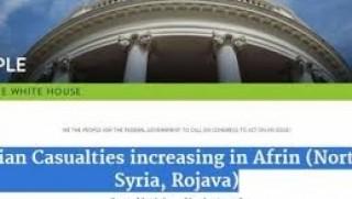 Beyaz Saray internet sayfasında Efrin için imza kampanyası