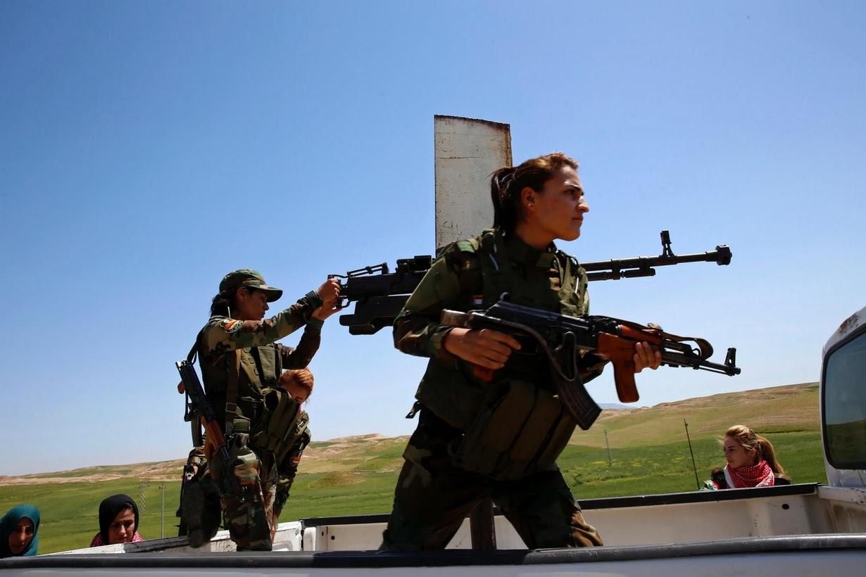 Ezidi Kürd Kadın Peşmergeler Reuters'un objektifinde